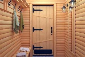 Как выбрать деревянные двери для бани?