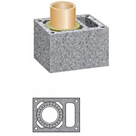 Комплект дымохода Schiedel UNI D140 4м.п. одноходовой с вентиляционной камерой