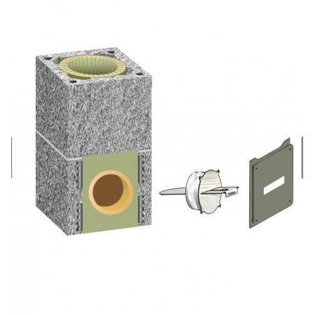 Комплект шибера  Schiedel UNI D160 одноходовой без вентиляционной камеры