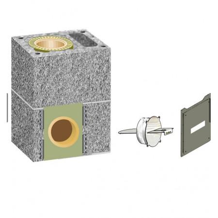 Комплект шибера  Schiedel UNI D140 одноходовой с вентиляционной камерой