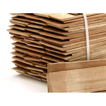 Шиндель колотый, лиственница 40 см (упаковка 8 м.п.)