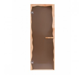 Дверь стеклянная БРИЗ, коробка ОЛЬХА, стекло бронза, правая