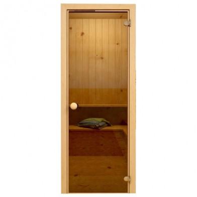 Soul Sauna 700х1870, дверь стекло бронза, коробка ОСИНА (Латвия)