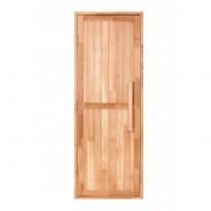 Дверь из дуба, глухая, с дверным блоком