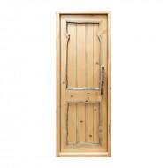 Дверь из Кело глухая, карельская сухостойная сосна