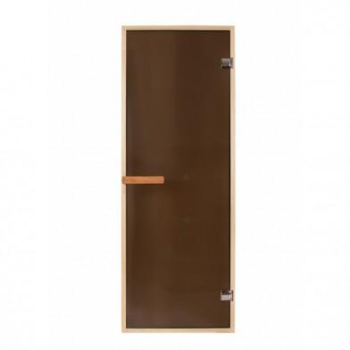 Дверь PREMIO 700х1870, стекло бронза, коробка ОЛЬХА