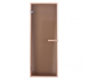 Дверь PREMIO, стекло - матовая бронза, коробка БУК