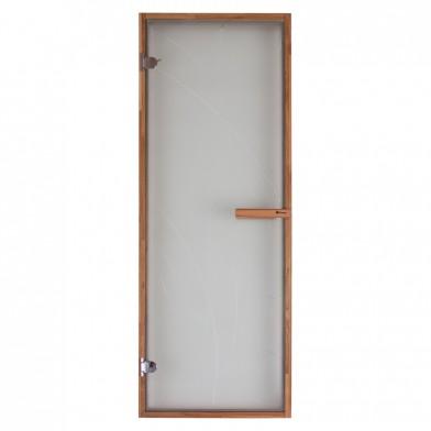 Дверь PREMIO, стекло сатин (матовая) с рисунком, коробка ДУБ
