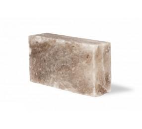Кирпич из серой гималайской соли, 200х100х50, шлифованный со всех сторон
