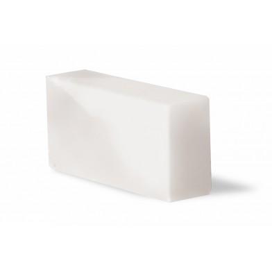 Кирпич из белой гималайской соли, 200х100х50, шлифованный со всех сторон