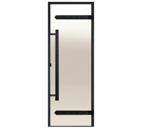 Дверь Harvia 700х1900  Legend стекло бронза, коробка СОСНА, ЧЁРНАЯ коробка