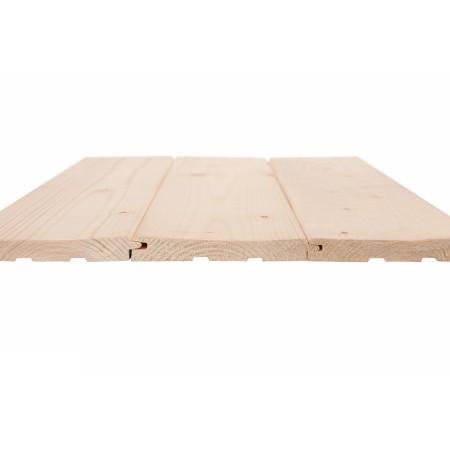 Доска потолочная шпунтованная 15х100(90) мм, хвоя, сорт АВ - 5,2 м
