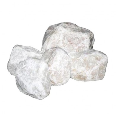 Белый кварцит, обвалованный, средний 20 кг