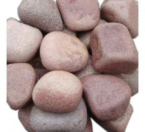 Малиновый Кварцит, галтованный, средний, 20 кг