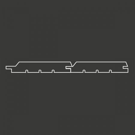Окрашенная имитация бруса (без отступа) с тонкопиленой поверхностью Scandic Exterior