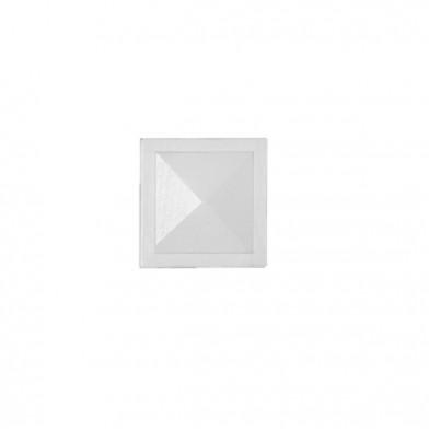 Элемент наличника 'Квадрат' 90х90 мм, белая ЛАЗУРЬ