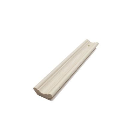 Плинтус хвоя окрашенный 30 мм, белый воск