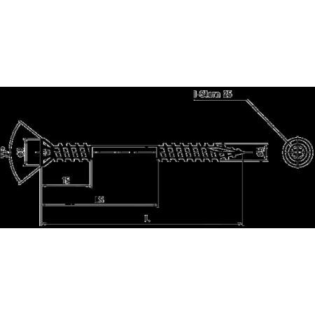 Саморез для террасной доски 5х60 TORX 25A2 (уп. 100 шт)