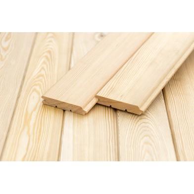 Деревянные декоративные панели «Гладкие», лиственница, Экстра - 4,0 м