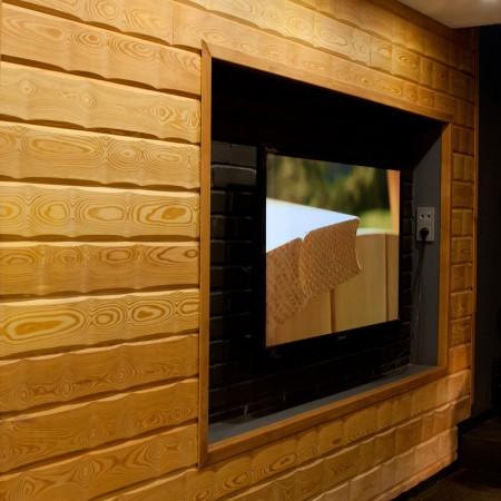 Имитация бруса из лиственницы «Сибирь», сорт Экстра, 25х120 (110) мм - 4,0 м
