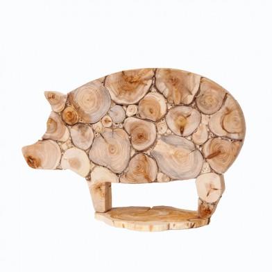Фигурка  можжевеловая Свинья (на подставке)