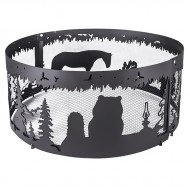 Кольцо Firecup для костра «Ежик в тумане», диаметр 80 см