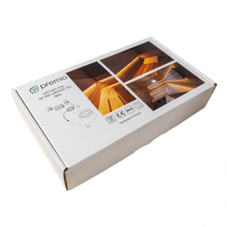 Светодиодная лента Premio для сауны 5 м теплый белый Арт. 511