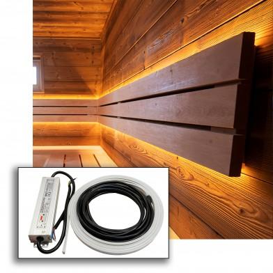 Светодиодная лента Premio для сауны 2,5 м теплый белый, Арт. 510