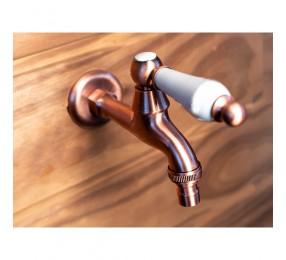 Кран для бани Premio (медный) с керамической ручкой, Арт. S1125
