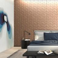 Панели декоративные, стеновые «Ромб», красный дуб