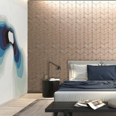 Панели декоративные, стеновые «Ромб», белый ясень