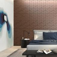 Панели декоративные, стеновые «Ромб», черный орех