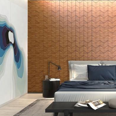 Панели декоративные, стеновые «Ромб», дикорастущий тик