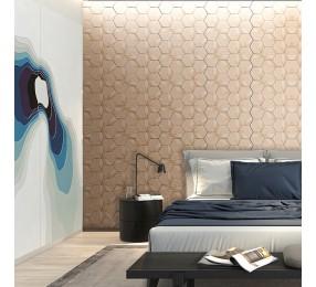 Панели декоративные, стеновые «Соты», белый ясень