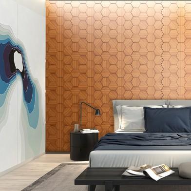 Панели декоративные, стеновые «Соты», дикорастущий тик