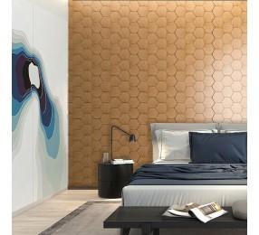 Панели декоративные, стеновые «Соты», вишня