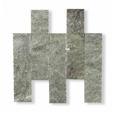Плитка талькохлорит, «рваный камень» 200х50х20