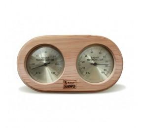 Термогигрометр овал, SAWO 222-THD (кедр)