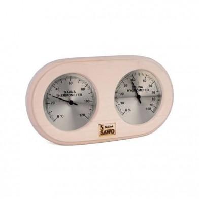 Термогигрометр овал, SAWO 222-THA (осина)