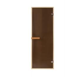 Дверь PREMIO, стекло - матовая бронза, коробка ДУБ