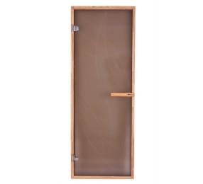 Дверь PREMIO, стекло матовая бронза с рисунком, коробка ДУБ