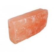 Кирпич из розовой гималайской соли, 200х100х50, шлифованный, одна сторона натуральная