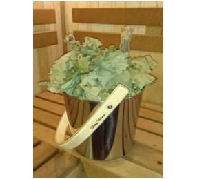 Запарник из нержавеющей стали с деревянной ручкой, 12 л