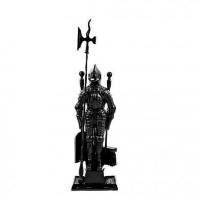"""Каминный набор (Ragar) """"Рыцарь"""" Черный"""