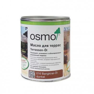 Масло OSMO TERRASSEN-OLE для террас, 016 для бангкирай, темное