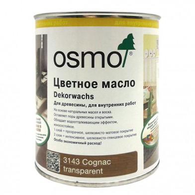 Цветное прозрачное масло Osmo Dekorwachs Transparente 3143 (Коньяк)
