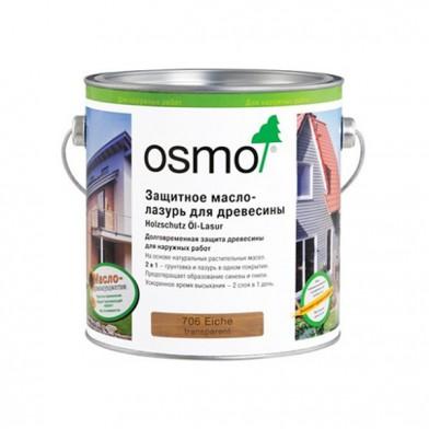 Защитное масло-лазурь для древесины OSMO HOLZSCHUTZ OL-LASUR 706 (Дуб)