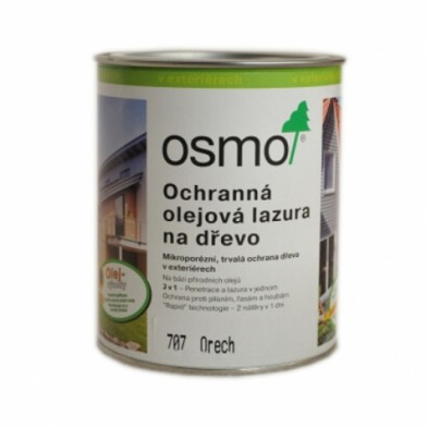 Защитное масло-лазурь для древесины OSMO HOLZSCHUTZ OL-LASUR 707 (Орех)