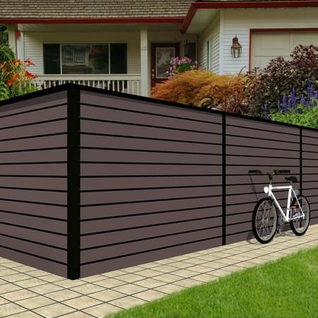 Деревянный забор Scandic «Планкен», длина секции 2,0 м