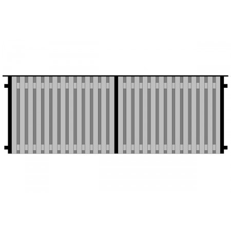 Деревянный забор Scandic «Шахматы», длина секции 2,0 м